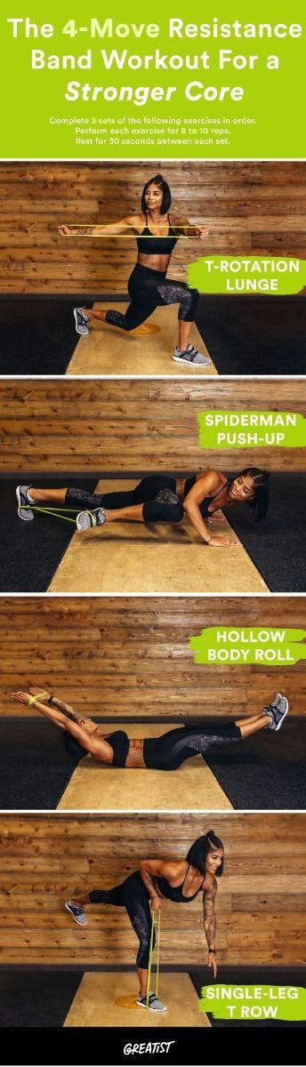 9 najboljih vježbi za ojačanje trbuha s gumom za treniranje